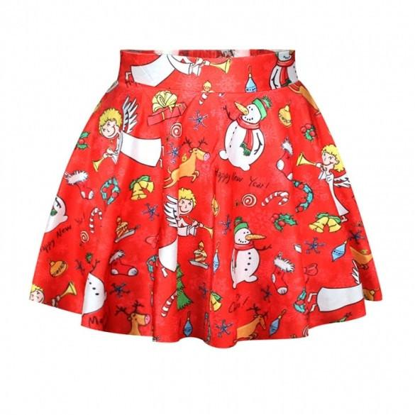 Lovely Christmas Santa Short Skirt - MeetYoursFashion - 11