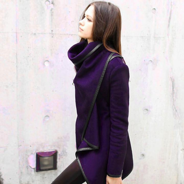 Long Irregular Thickening Woolen Overcoat - Meet Yours Fashion - 9
