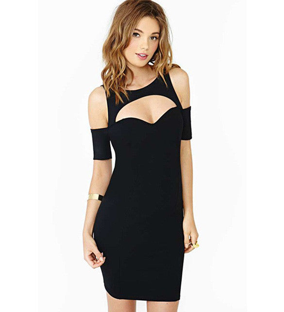 Bodycon Black Hollow Cut Out Clubwear Dress - MeetYoursFashion - 3