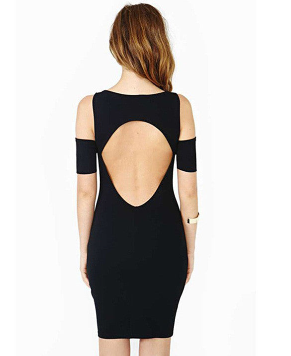 Bodycon Black Hollow Cut Out Clubwear Dress - MeetYoursFashion - 4