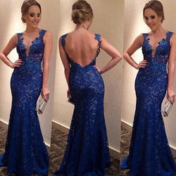 Backless Women's V-neck Formal Long Dress - MeetYoursFashion - 1