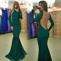 Bodycon Lace Hollow Flower Backless Maxi Long Dress - MeetYoursFashion - 1