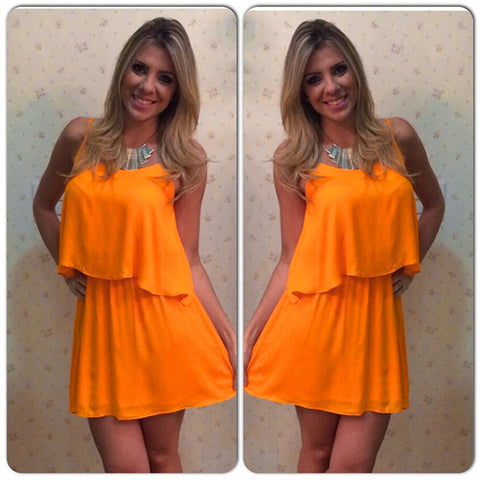 Chiffon Backless Top with Short Skirt Slim Mini Dress Set - Meet Yours Fashion - 2