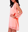 V-Neck Split Long Sleeve Chiffon Loose Short Dress - MeetYoursFashion - 3