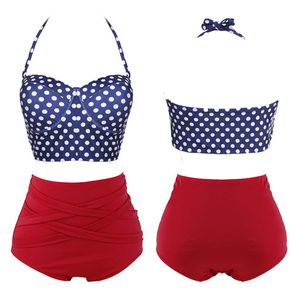 Heart Push-up Padded Dot 2 Pcs Set Bikini Swimwear - MeetYoursFashion - 2