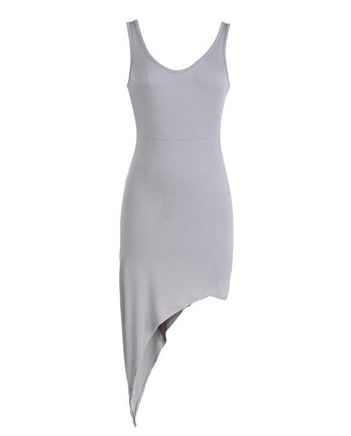 Backless Irregular Hem Bodycon Club Mini Dress - MeetYoursFashion - 5