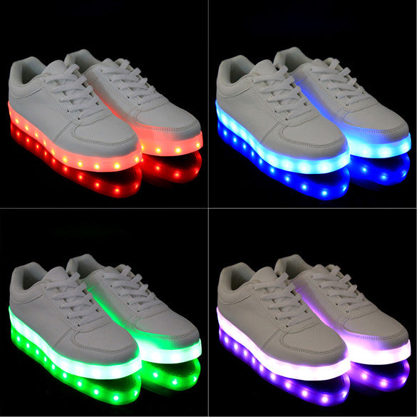 Charming Unisex LED Light Luminous Lace Up Sportswear Sneakers - MeetYoursFashion - 3