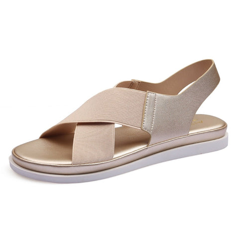 Elastic Band Flats Casual Sandals