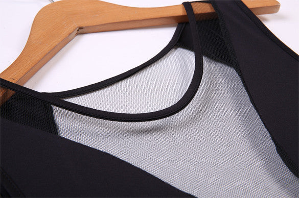 O-neck Mesh Transparent Backless Little Black Club Dess - MeetYoursFashion - 7