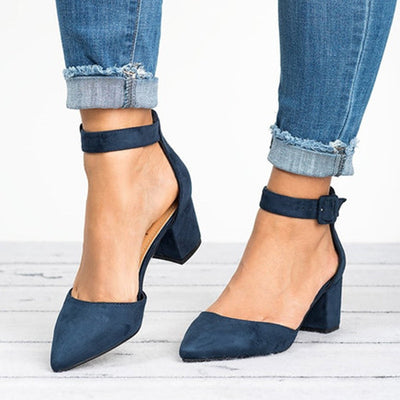 Summer Close Toe Suede High Heel Sandals