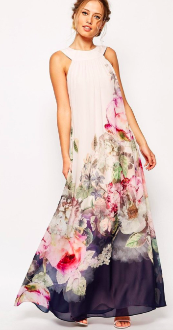 Floral Sleeveless Evening Party Long Maxi Dress - Meet Yours Fashion - 2