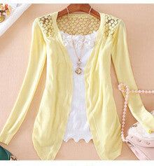 Candy Color Hollow Thin Knitting Blouse - MeetYoursFashion - 11