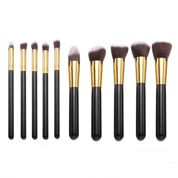 10PCS Makeup Brush Professional Cosmetic Foundation Face Powder Brushes Kits Sets