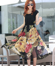 Bohemian Style Short Sleeve Long Chiffon Dress - MeetYoursFashion - 7