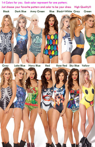 Print Big Scoop Underwear Monokini Bikini - MeetYoursFashion - 9