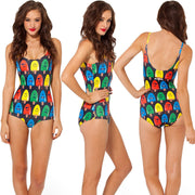 Print Big Scoop Underwear Monokini Bikini - MeetYoursFashion - 7