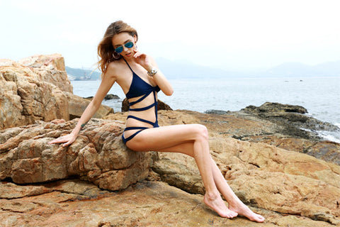 One Piece Bandage Cut Out Push Up Padded Monokini Bikini - MeetYoursFashion - 6