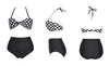 Plus Size Striped High Waist Bikini Set Swimwear - Meet Yours Fashion - 2