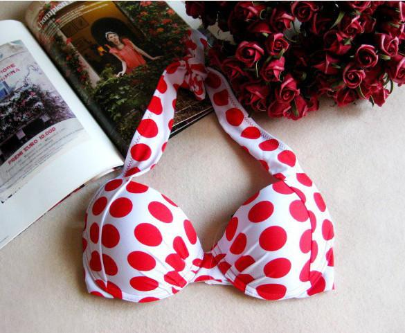 Red Color Polka Dots  High Waist Bikini Set - MeetYoursFashion - 5