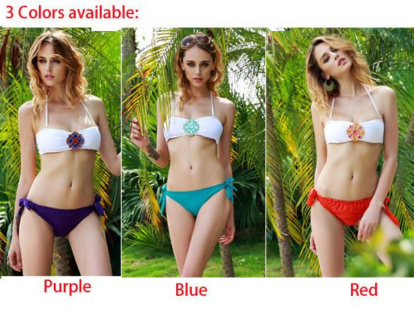 Jewels Push Up Padded Bra Comfortable Bikini Swimwear - MeetYoursFashion - 5