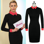 Women's Pencil Stretch Office Dress - MeetYoursFashion - 2