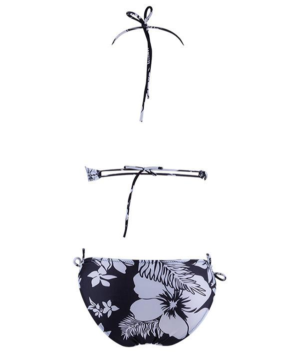 Push Up Flower Print Bikini Set with Cover - Meet Yours Fashion - 4