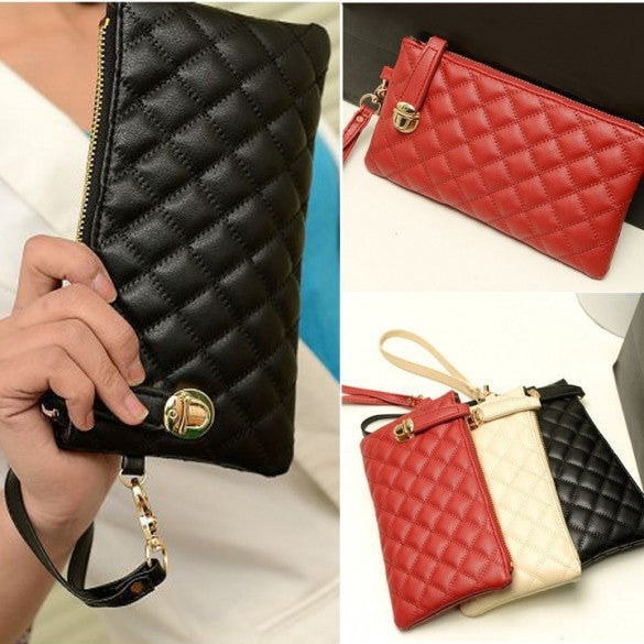 European style Women Phone package Ladies Clutches Purse Long Leather Handbags Zipper Wallet