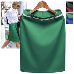 Business Suit Pencil OL Skirts with Belt on - MeetYoursFashion - 1
