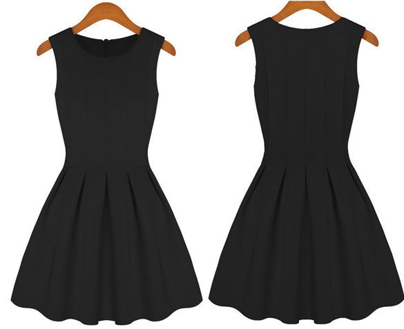 Princess Sleeveless Skater Tight Pleated Dress - MeetYoursFashion - 3