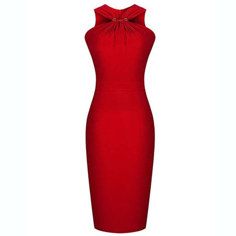Bridesmaids Formal Bodycon Slim Knee-length Dress - MeetYoursFashion - 2