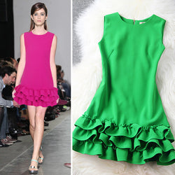 Flouncing Sleeveless Chiffon Mini Princess Dress - MeetYoursFashion - 1