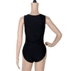 Transparent Hollow Out Plunging Bodysuit Leotard Mesh Swimwear - MeetYoursFashion - 4
