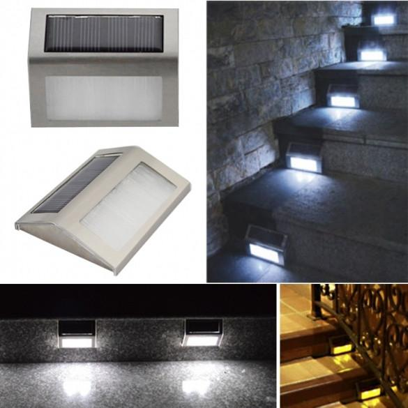 Solar Power Led Light Outdoor Home Garden Yard Wall Pathway Stair Staircase Lamp - Oh Yours Fashion - 1