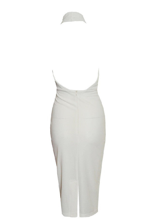 Hollow Chest Backless Bodycon Slim Dress - MeetYoursFashion - 8
