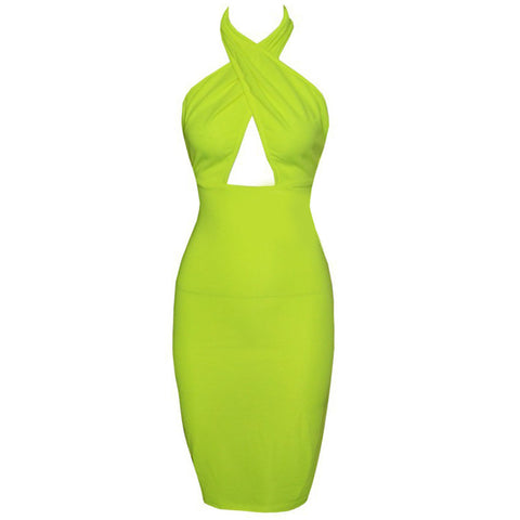 Hollow Chest Backless Bodycon Slim Dress - MeetYoursFashion - 6
