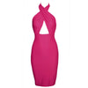 Hollow Chest Backless Bodycon Slim Dress - MeetYoursFashion - 2