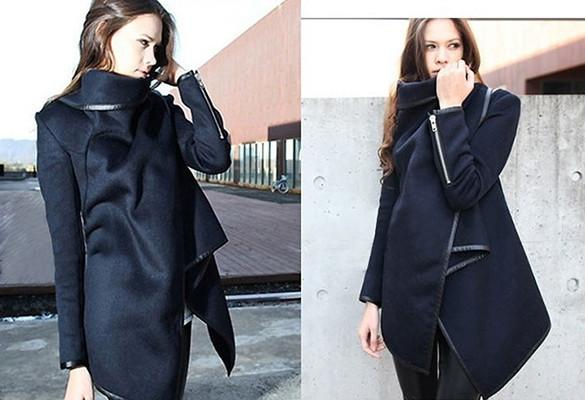 Long Irregular Thickening Woolen Overcoat - Meet Yours Fashion - 11