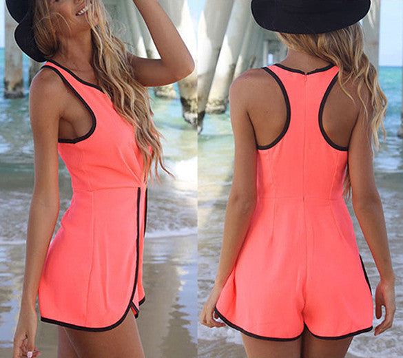 V Hollow Playsuit Party Short Jumpsuit - Meet Yours Fashion - 6