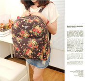 Canvas Flower Rucksack School Backpack Bag - MeetYoursFashion - 5