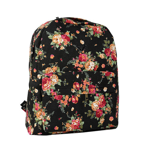 Canvas Flower Rucksack School Backpack Bag - MeetYoursFashion - 2