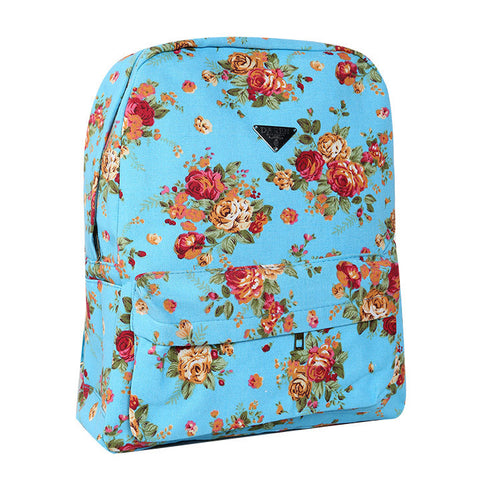Canvas Flower Rucksack School Backpack Bag - MeetYoursFashion - 4