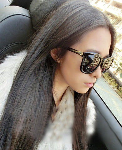 Classic Cat Eye Shades Black Frame Sunglasses - MeetYoursFashion - 2