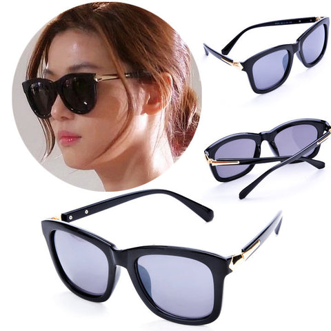 Classic Cat Eye Shades Black Frame Sunglasses - MeetYoursFashion - 1