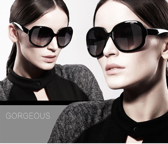Women's Retro Vintage Shades Oversized Designer Sunglasses - MeetYoursFashion - 2