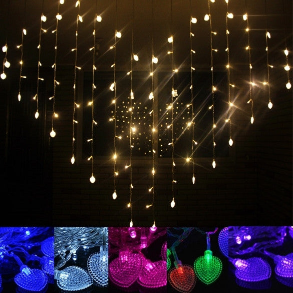 New Beautiful Colorful 128 LED String Fairy Heart Lights 3M