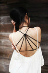 Unique Cross Strap Tank Padded Cup Top Casual Vest - MeetYoursFashion - 9