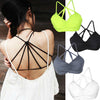 Unique Cross Strap Tank Padded Cup Top Casual Vest - MeetYoursFashion - 10