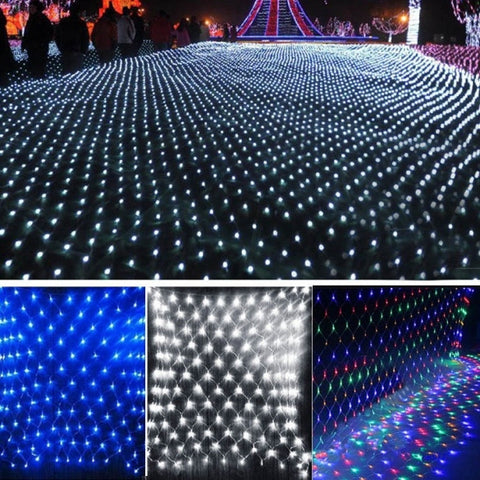 2M X 2M 144leds LED Net Light Fairy Lights Christmas Xmas Party Wedding EU Plug