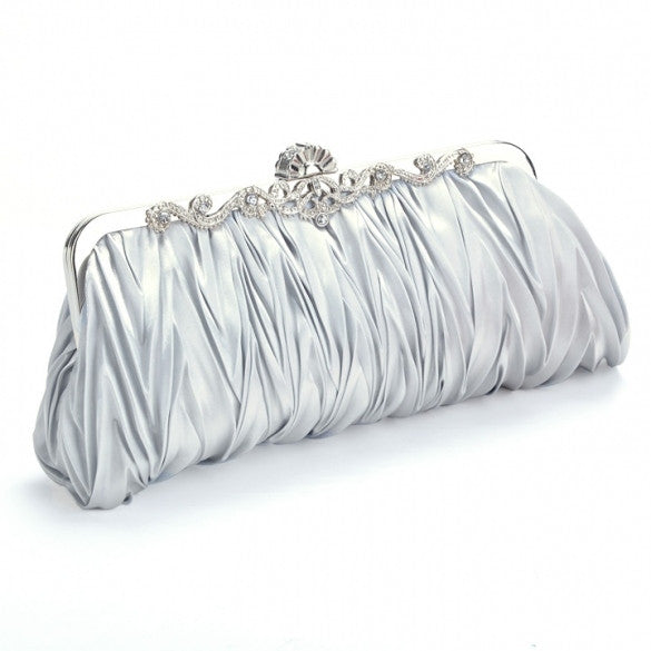 Fashion Satin Elegant Evening Handbag Clutch Purse Bag Bride Bridesmaid