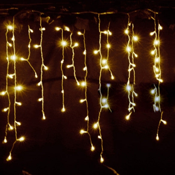 3.5m Droop 0.3-0.5m EU Plug Curtain Icicle String Lights 220V New Year Christmas LED Lights Garden Xmas Wedding Party